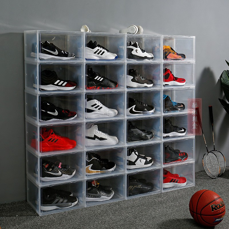 AJ side door shoe box transparent storage box clip shoe box high top shoe box moisture proof and dust proof display