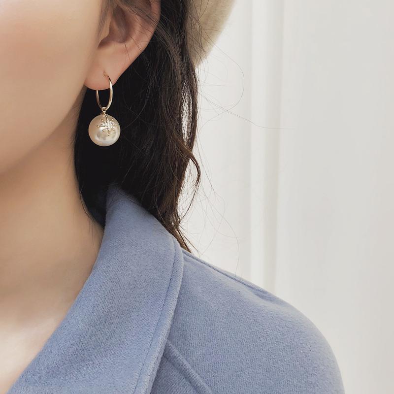 高级感法式珍珠女2019新款韩国耳环