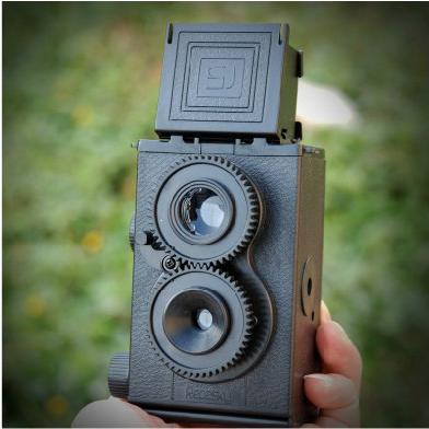 LOMO相机 大人的科学 复古双反相机双镜头反光DIY组装照相机