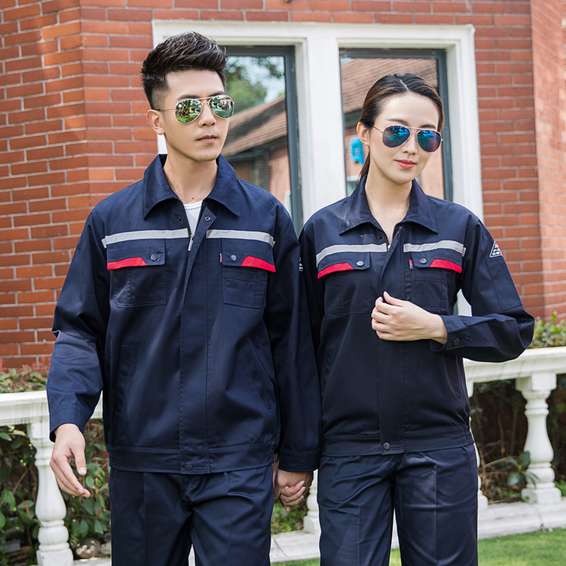 Fall and winter property hotel engineering department electrician overalls long sleeve suit anti static installation elevator mechanical uniform