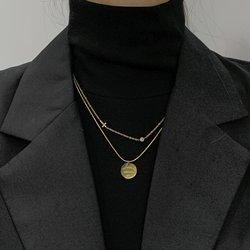 高领毛衣链子项链配饰打底衫女冬季搭配韩版精致小巧气质2020年新