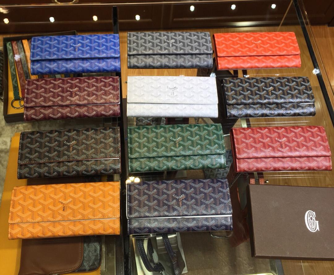 Buy Goyard Goya bag wallet classic printing long wallet multi card mobile phone bag double fold for men and women