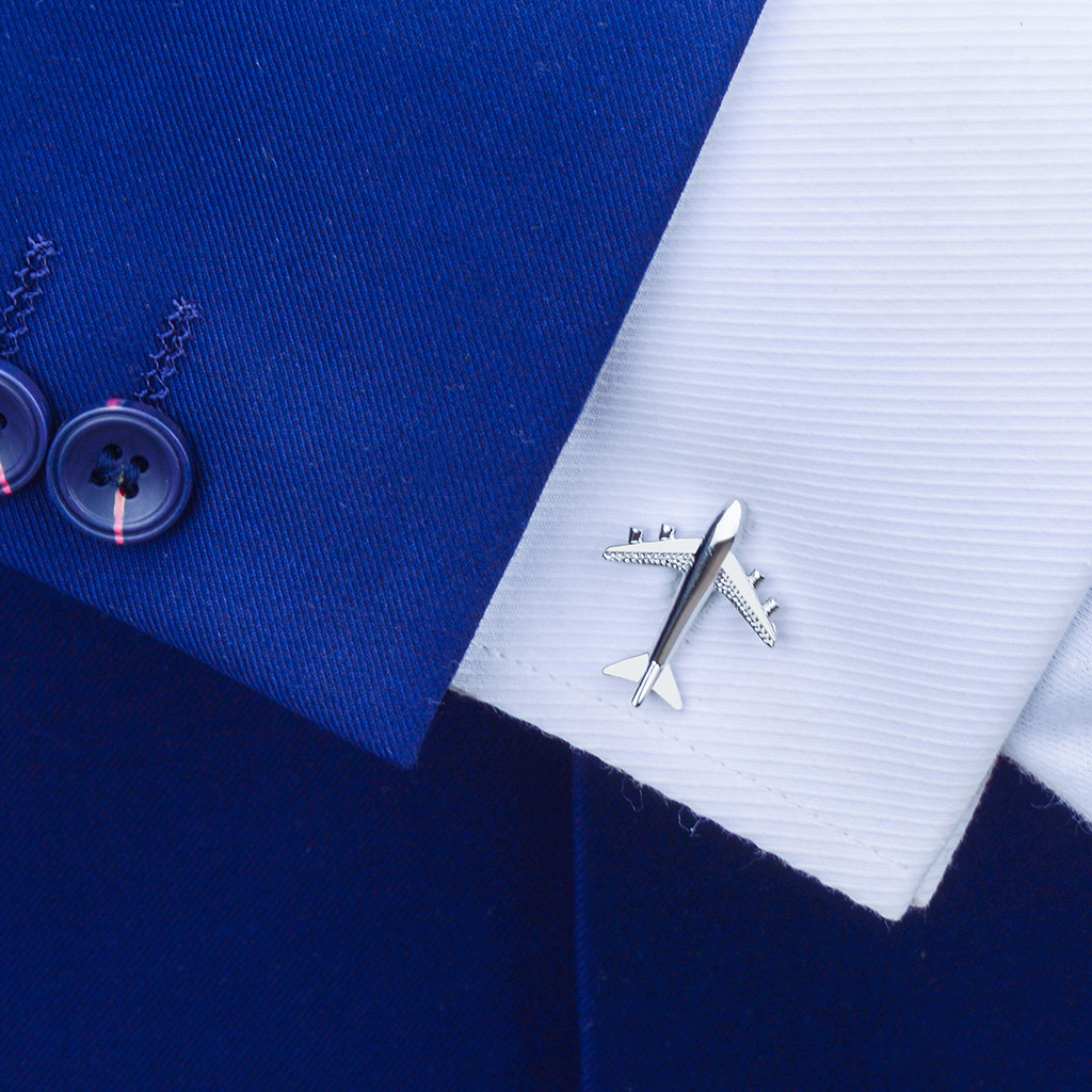 男士飞机造型袖扣高档法式衬衫袖钉袖口扣女士款简约纽扣定制礼物
