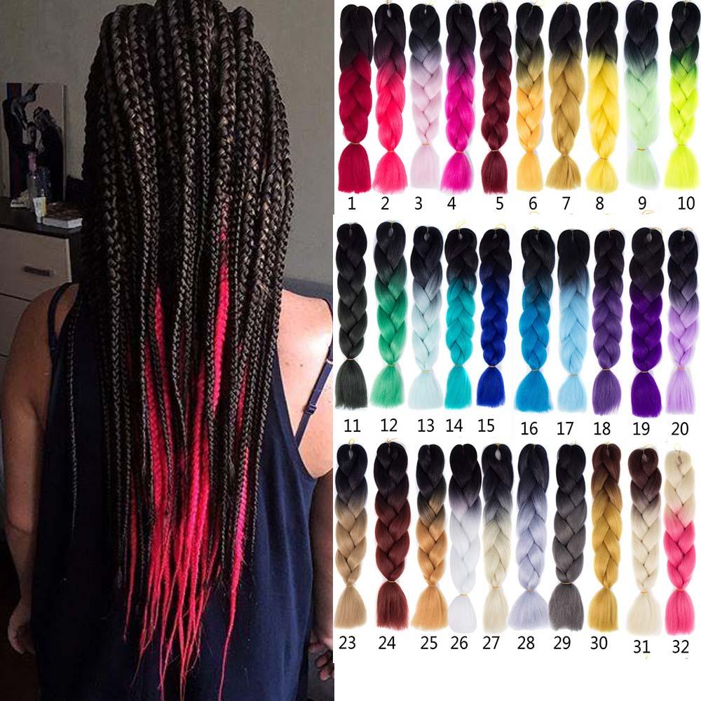 非洲脏辫假发辫子渐变雷鬼辫 xpression braids hair extensions