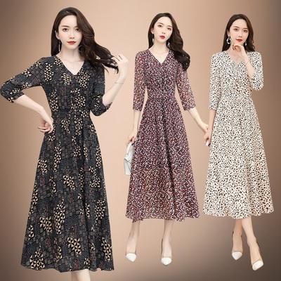 高端2020春新款古贝莎声雨竹专柜正品牌女装时尚森女真丝连衣裙睐