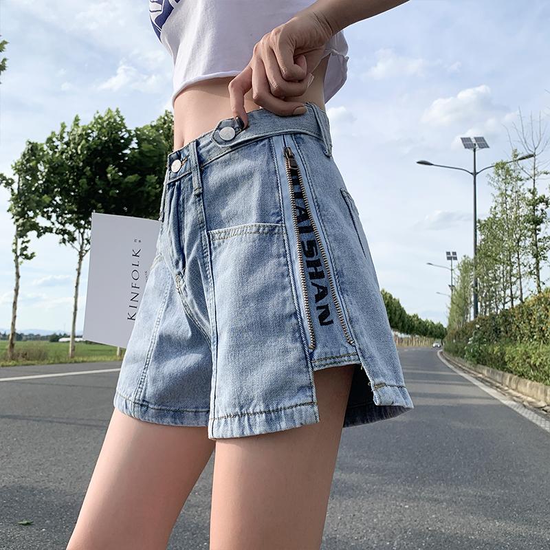 胖妹妹大码女装新款2020年时尚气质胯大腿粗显瘦牛仔短裤夏装潮流