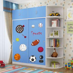 衣柜推拉门儿童彩色组合卧室定做板式家具现代简约木质组装衣橱