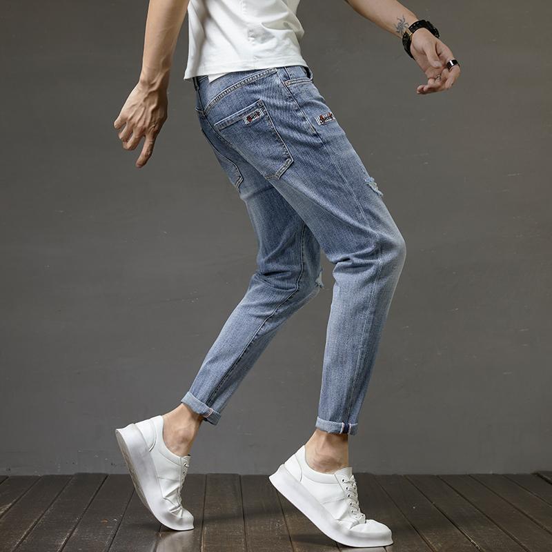 春夏季男士牛仔裤男修身小脚裤休闲韩版休闲潮流男裤K321-P50