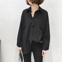 加肥加大码女装韩版衬衣女胖mm最爱减龄遮肚上衣宽松显瘦打底衬衫