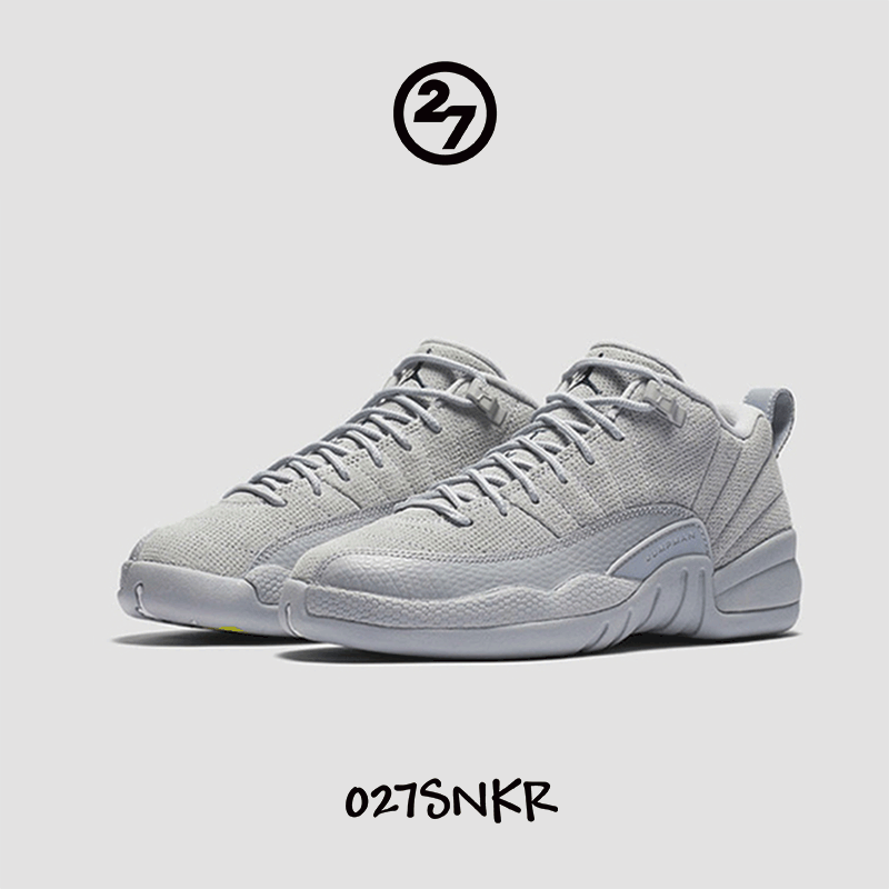 Air Jordan 12 Low Grey AJ12狼灰麂皮酷灰低帮篮球鞋308317-002