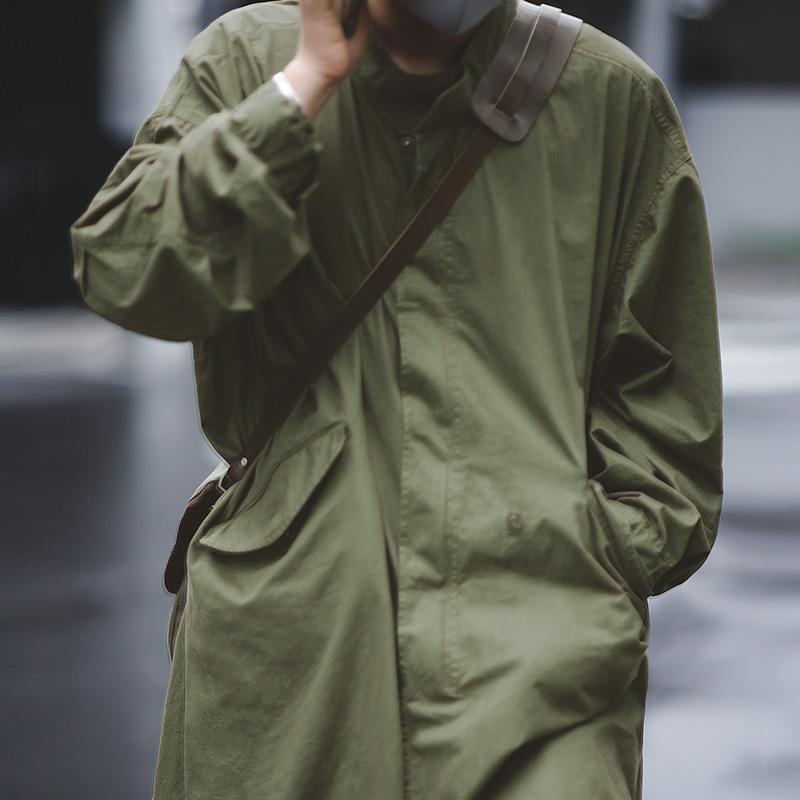 马登工装 美式复古二战M51 PARKA鱼尾风衣长款军版绿色大衣外套男