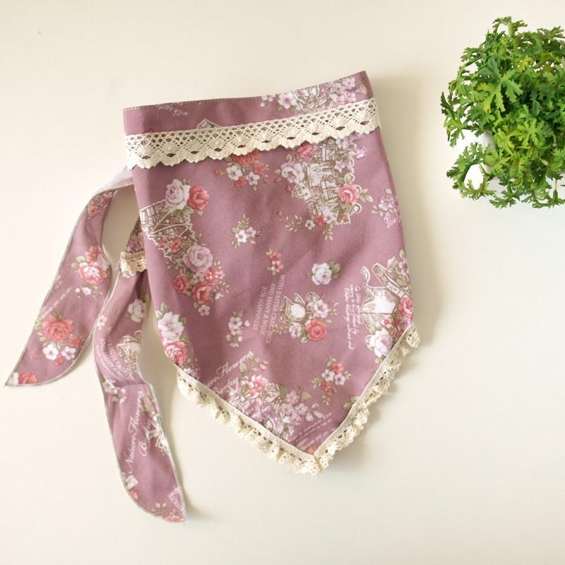 韩版家用工作厨房头巾女士家居三角巾防油烟围裙服务员餐厅做饭