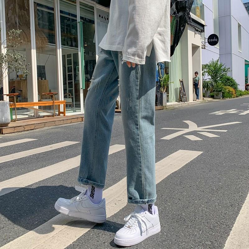 20男装新款港风精品牛仔裤破洞休闲女裤子714-x905-p50x