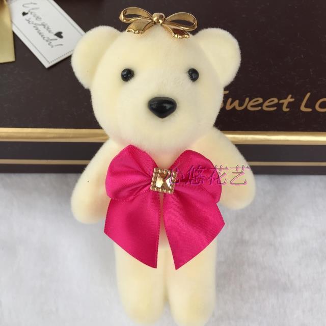 6.0钻石大花卡通花束小熊公仔泡沫玩具包花婚庆娃娃挂件特价