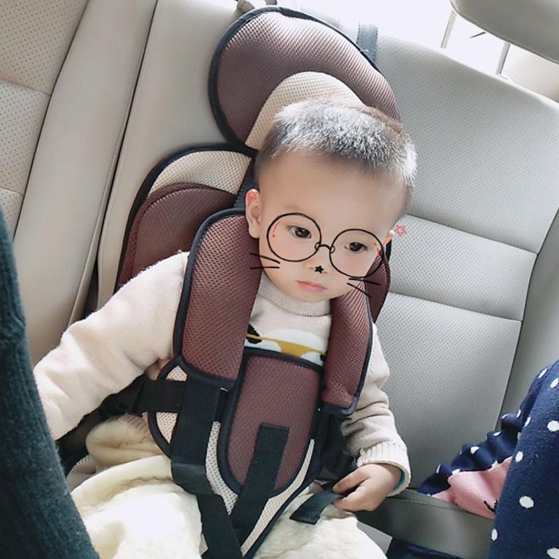 汽车儿童便携式带套座椅婴儿岁车载宝宝便携简易安全坐垫增高0-4-