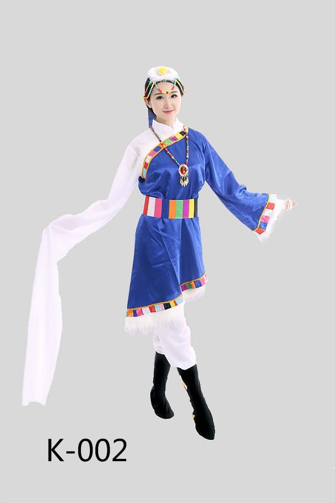 新款成人西藏少数民族舞蹈表演服装水袖藏族女装藏族舞台演出服饰