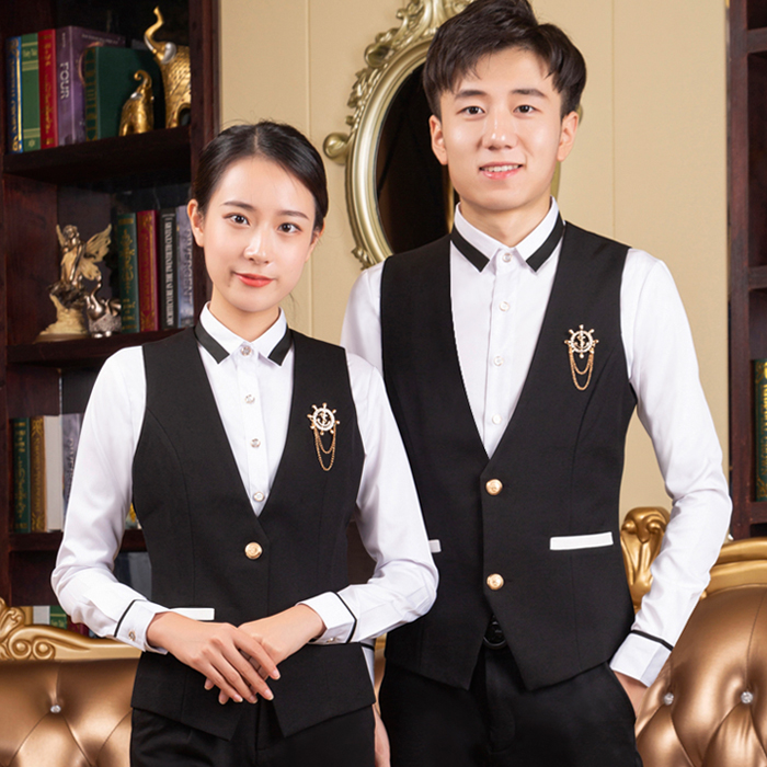 KTV attendant work clothes Hotel tooling Restaurant Hotel vest LONG SLEEVE suit bar club staff clothing