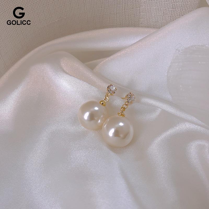 珍珠少女优雅复古耳钉超仙减龄迷人耳环高级感银耳针耳饰品chic