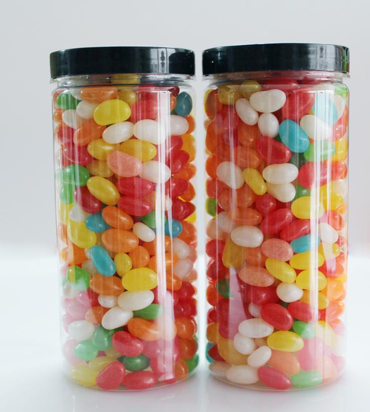 2瓶七彩糖豆彩虹糖果汁软糖果味QQ糖果橡皮糖儿童零食品一罐包邮