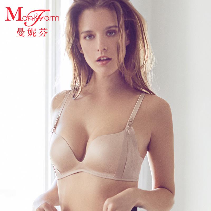 曼妮芬无钢圈减压无痕文胸 舒适包容侧收稳定调整内衣女20810709