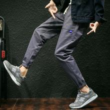 8028新款休闲裤男大码日系风哈伦了男士小脚裤P40