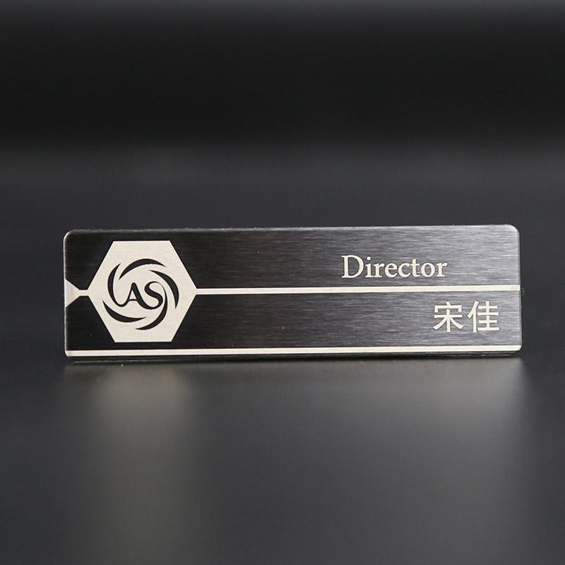Матовый металлический эмблемы стандарт член работа количество карты знак штифт магнит нержавеющей стали знак полное имя карты сделанный на заказ сделать