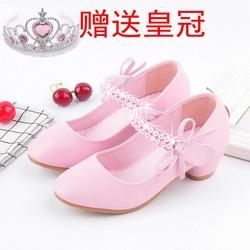 2020新款女童真皮鞋儿童鞋女童公主单鞋韩版潮宝宝女童高跟皮鞋秋