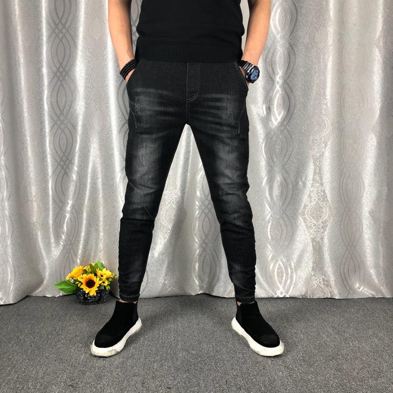 2017-4牛仔裤男春秋款修身小脚韩版潮流男装休闲弹力男士长裤子
