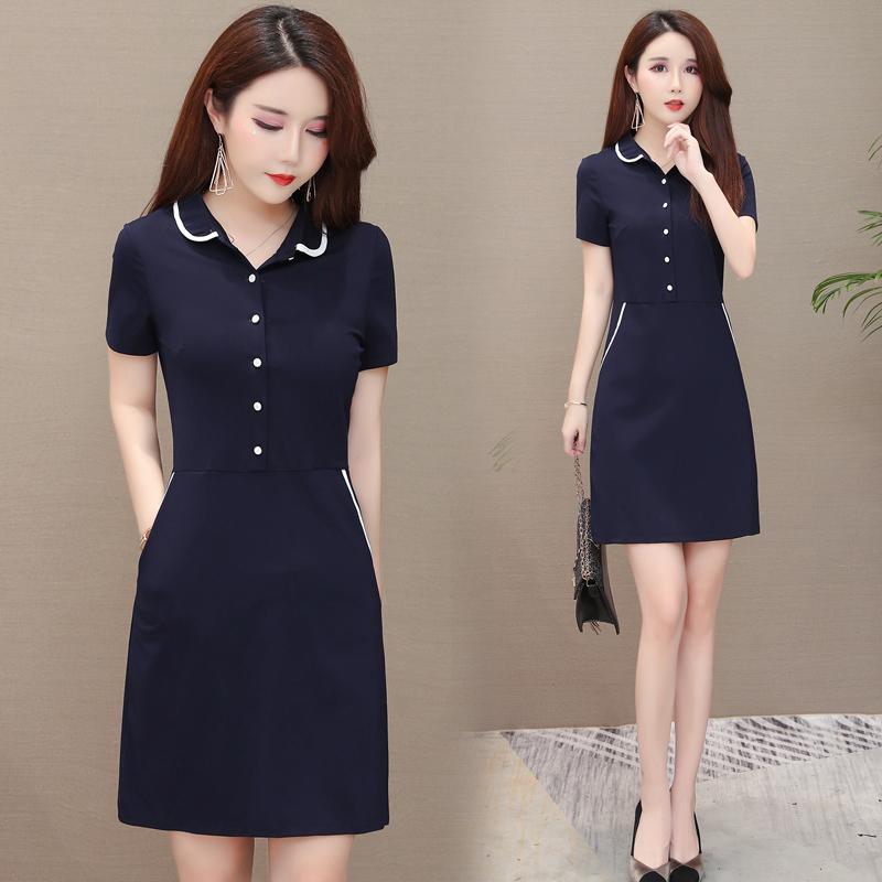 (用5元券)收腰显瘦155小个子连衣裙气质夏季遮肚子中年妇女妈妈30-40岁裙子