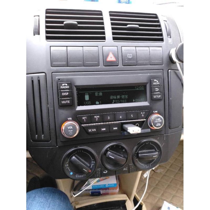 适用大众老POLO宝来帕萨特领域B5高尔夫4CD改装车载蓝牙收音机USB图片