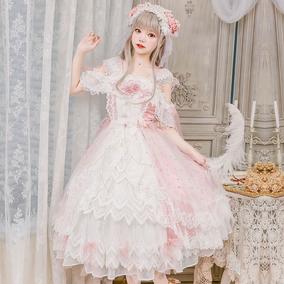 茶会新款原创lolita少女花嫁连衣裙