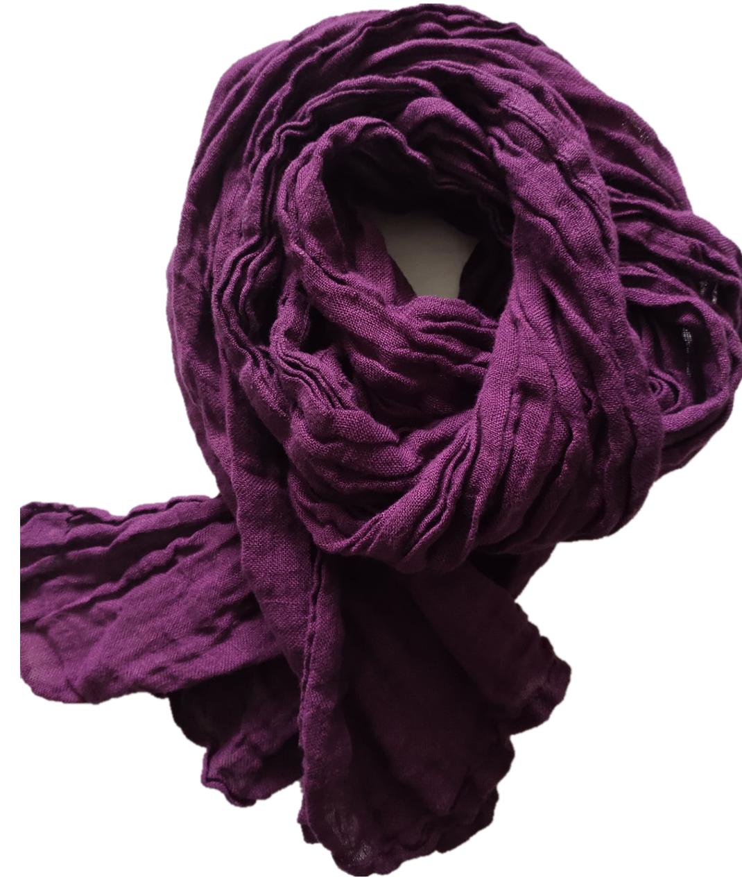 左岸のなんじの布の服のオリジナルのデザインの風格と綿の麻のしわの純色の長方形のマフラーの春秋の夏