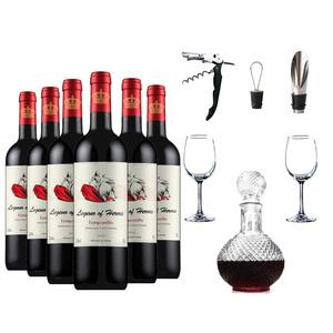 西班牙原瓶进口红酒整箱干红葡萄酒6支装六瓶 正品赤霞珠酒类特价