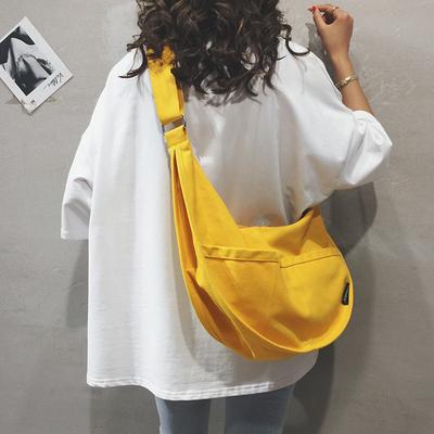 帆布大包包女包新款2019大容量单肩斜挎包纯色百搭ins休闲布袋包