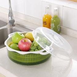 创意现代客厅塑料水果盘带盖家用果盘果盆洗菜洗水果滤水篮滤水盆