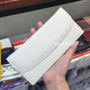 韩国东大门定做女包nine0472真牛皮荔枝纹带卡位大钞位拉链夹钱包