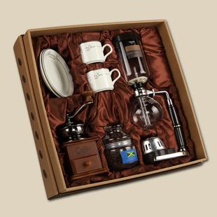 复古磨豆机虹吸壶手动煮咖啡壶套装礼盒家用玻璃壶煮咖啡器具礼品