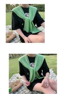 女士针织围巾粉色披肩斗篷外套短款配件浅绿色优雅多用途红色少女