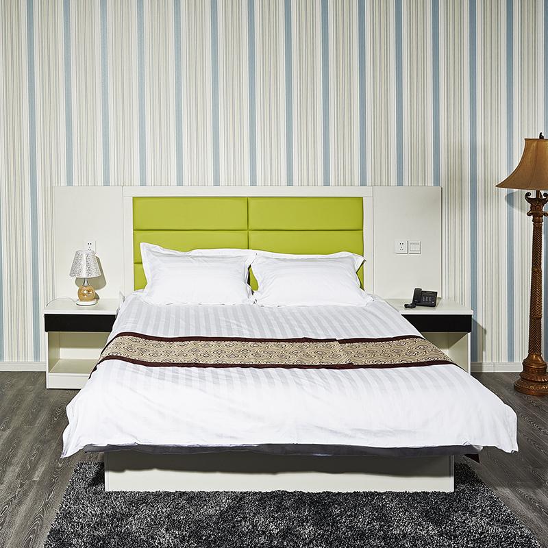 板式旅馆用床床架子床箱酒店家具酒店床定制宾馆家具床标间全套床