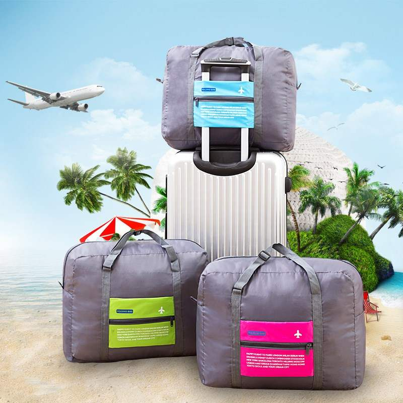The best choice for business travel clothes storage bag can be folded, hand-held, pull rod, suitcase and bag with full carrying capacity