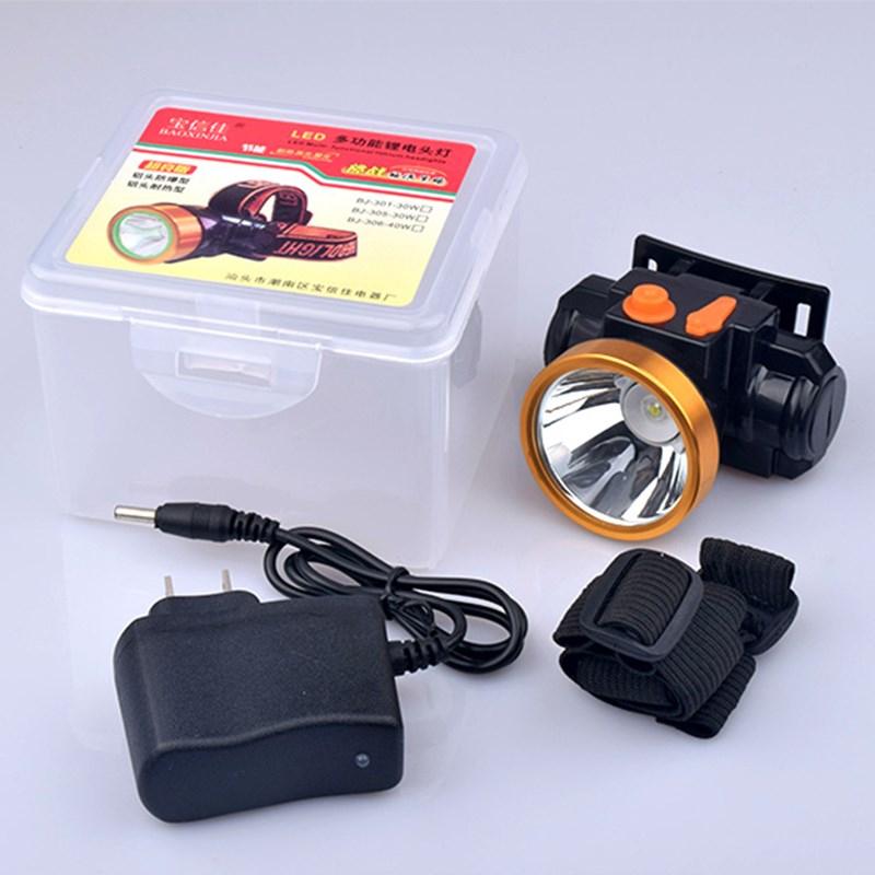 强光户外头戴式可充电锂电池头灯10-13新券