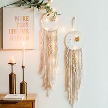 北欧编织挂毯星星月亮装饰捕梦网挂件灯卧室壁挂学生日创意送礼品