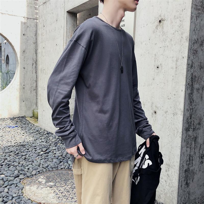 新款 纯棉百搭长袖T恤打底衫XZ-221-5-W02-P35