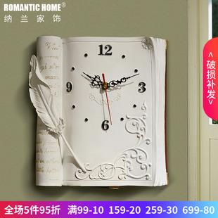 经典热卖客厅钟表挂钟欧式时钟挂表机芯仿古时尚创意书房石英钟