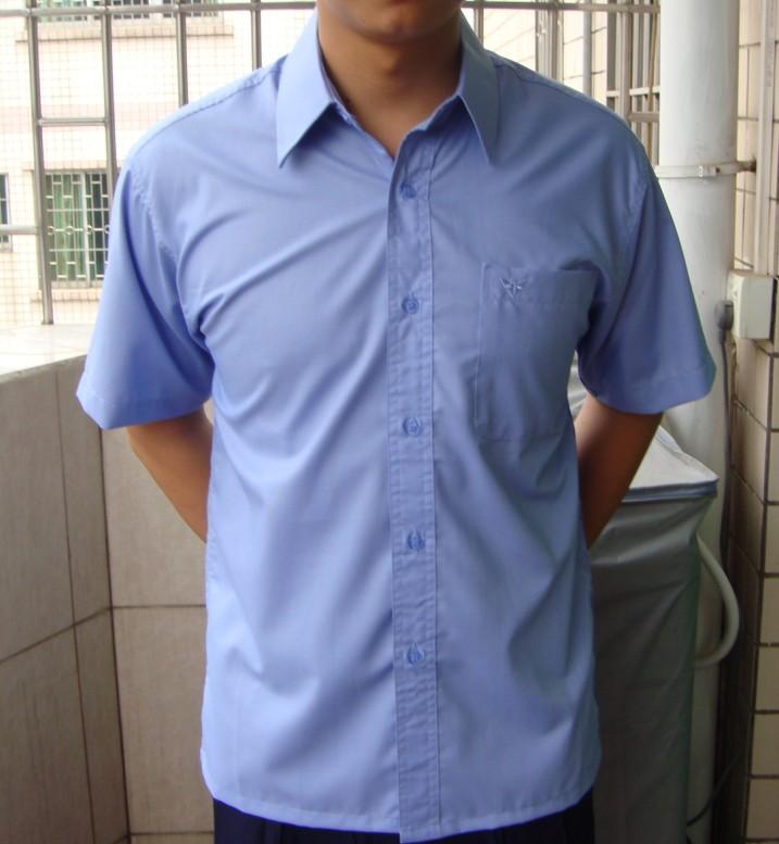 Summer shirt formal dress professional business casual non ironing half sleeve blue mens summer short sleeve shirt work clothes