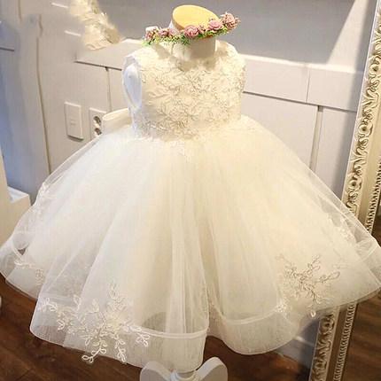 夏季蕾丝洋气花童小女孩公主婚纱裙
