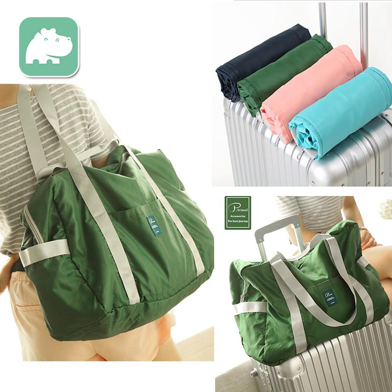 Сумка путешествие мешок портативный складной род коробки на короткий способ путешествие портативный плечо сложить пакет багаж пакет