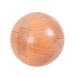 益智类成人榉木质玩具儿童智力开发积木孔明锁套装鲁班锁全套圆球