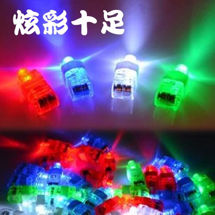 发光手指灯演唱会发光戒指手指投影灯LED手指灯酒吧儿童地摊玩具