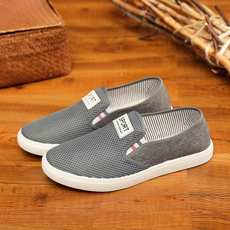 Old Beijing cloth shoes mens tennis shoes mesh surface summer breathable soft bottom sports casual canvas shoes sandals mens tennis shoes